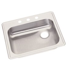 "<strong>Elkay</strong> Dayton 25"" x 21.25"" Single Bowl 3 Hole Kitchen Sink"