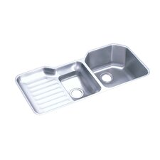 "Lustertone 41.5"" x 20.5"" Undermount Double Bowl Kitchen Sink with Reveal Rim"
