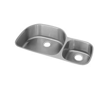 "<strong>Elkay</strong> 36.25"" x 21.13"" Undermount Double Bowl Kitchen Sink with Reveal Rim"