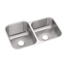 "Dayton 31.25"" x 20.5"" Double Bowl Undermount Kitchen Sink"