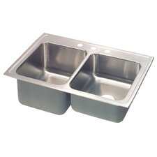 """Lusterstone 43"""" x 22"""" Double Bowl Kitchen Sink"""