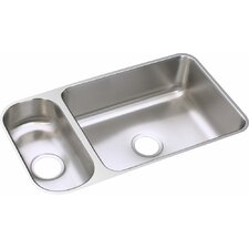 "32.25"" x 18.25"" Double Bowl Undermount Kitchen Sink"