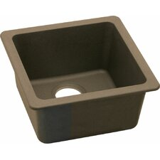 "Gourmet 15.75"" x 15.75"" E-Granite Universal Mount Single Bowl Kitchen Sink"