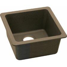 "Gourmet 15.75"" x 15.75"" E-Granite Universal Mount Single Bowl Kitchen Sink"