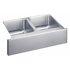 "33"" x 20.5"" Undermount Double Bowl Kitchen Sink with Apron"