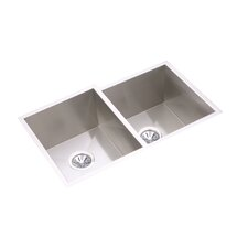 "Avado 31.25"" x 21.5"" Double Bowl Undermount Kitchen Sink"