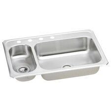 "Gourmet 33"" x 22"" Celebrity Top Mount Kitchen Sink"