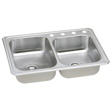 "Gourmet 33"" x 22"" x 7"" Top Mount Kitchen Sink"