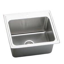 "Lustertone 25"" x 22"" Gourmet Single Bowl Kitchen Sink"