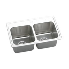 "Gourmet 25"" x 19.5"" Top Mount Kitchen Sink"