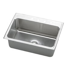 "Gourmet 31"" x 22"" x 10.13"" Top Mount Kitchen Sink"