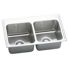 "Gourmet 33"" x 19.5"" x 10.13"" Top Mount Kitchen Sink"