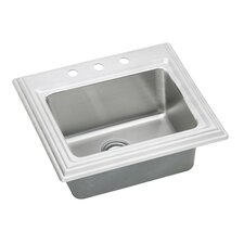 "Echo 25"" x 22"" Top Mount Kitchen Sink"