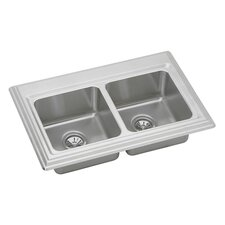 "Echo 33"" x 22"" x 10.06"" Top Mount Kitchen Sink"