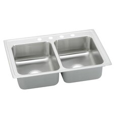 "Gourmet 25"" x 19.5"" Lustertone Kitchen Sink"