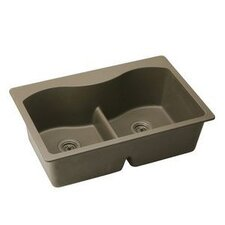 "<strong>Elkay</strong> Harmony 33"" x 22"" E-Granite Double Bowl Top Mount Kitchen Sink"