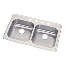 "Dayton 33"" x 21.75"" Double Bowl Kitchen Sink"