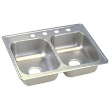 "<strong>Elkay</strong> Dayton 25"" x 19"" Top Mount Double Kitchen Sink"