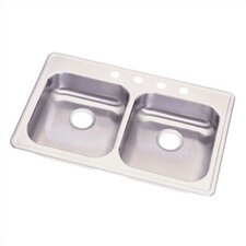 "Dayton 33"" x 21.25"" Double Bowl 3 Hole Kitchen Sink"