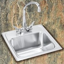 "Lustertone 15"" x 15"" Self Rimming Bar Sink"