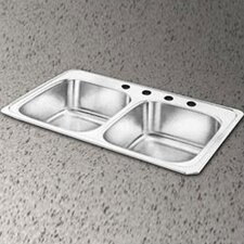"<strong>Elkay</strong> Celebrity 33"" x 22"" Self-Rimming Double Bowl Kitchen Sink"