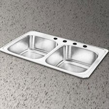 "Celebrity 43"" x 22"" Self-Rimming Double Kitchen Sink"