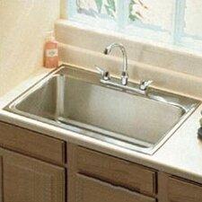 "Lustertone 33"" x 22"" Extra Deep Self-Rimming Kitchen Sink"