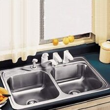 "Celebrity 33"" x 22"" Elkay Classique Self-Rimming Double Kitchen Sink"