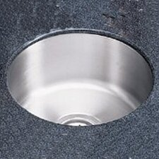 "Lustertone 14.38"" x 14.38"" Undermount Single Bowl Kitchen Sink"