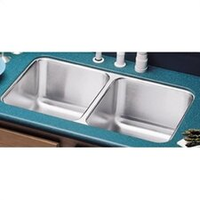 "31.75"" x 16.5"" Double Bowl Undermount Kitchen Sink with Reveal Rim"
