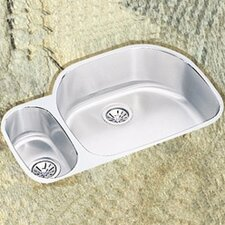 "31.5"" x 21.13"" x 10"" Double Bowl Undermount Kitchen Sink with Reveal Rim"