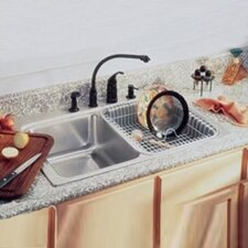 "<strong>Elkay</strong> Lustertone 33"" x 22"" Spacious Double Bowl Kitchen Sink"