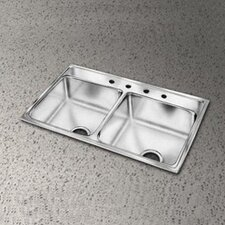 "<strong>Elkay</strong> 29"" x 22"" Lustertone Double Bowl Kitchen Sink"
