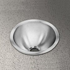 <strong>Elkay</strong> Round Bowl Stainless Steel Bathroom Sink with No Faucet Edge