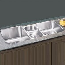 "<strong>Elkay</strong> 40"" x 20.5"" Undermount Triple Bowl Kitchen Sink"