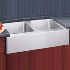 "<strong>Elkay</strong> 33"" x 20.5"" Undermount Double Bowl Kitchen Sink with Apron"