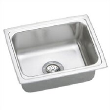 "Lustertone 19"" x 18"" Gourmet Single Bowl Kitchen Sink with No Holes"