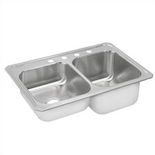"Celebrity 33"" x 22"" Gourmet Double Bowl Kitchen Sink"