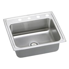 "Gourmet 22"" x 19.5"" Single Bowl Kitchen Sink"