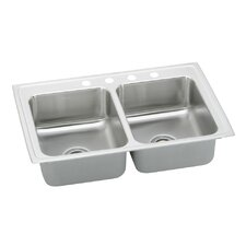 "Pacemaker 33"" x 22"" Gourmet Double Bowl Kitchen Sink"