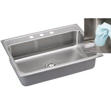 "Gourmet 31"" x 22"" E-Dock Kitchen Sink"