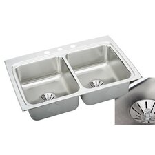 "Gourmet 33"" x 22"" x 8.13"" Perfect Drain Kitchen Sink"