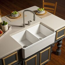 "Explore 32.75"" x 19.88"" Farmhouse Kitchen Sink"