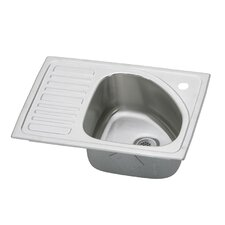 "Gourmet 21"" x 15"" Self-Rimming Kitchen Sink"