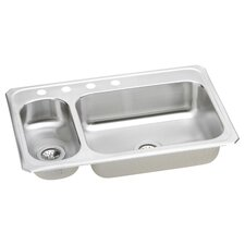 "Celebrity 33"" x 22"" Self-Rimming Double Bowl Kitchen Sink"