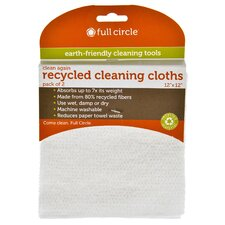 "12"" x 12"" Recycled Cleaning Cloth (Set of 2)"