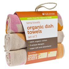 Evening Flight Organic Cotton Dish Towel (Set of 3)