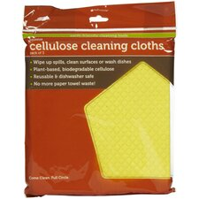 Squeeze Cellulose Cleaning Cloth (Set of 3)