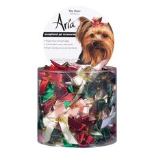 Tiny Dog Bows with Gold Beads (100 Pieces)
