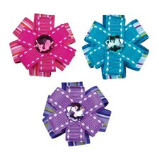 Button Dot Barrette Canister (24 Pieces)